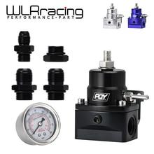 WLR RACING   AN8 hochdruck kraftstoff regler w/ boost   8AN 8/8/6 EFI Kraftstoff Druckregler mit manometer WLR7855