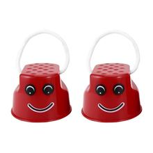 OCDAY 7 Colors 1pc Walk Stilt Jump Toy Plastic Smile Face Pattern Children Outdoor Fun Sports Balance Training Toy Best Gift(China)