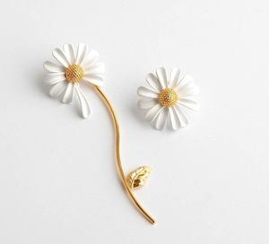 Image 3 - CSxjd New High quality luxury Personality white daisy sun flower bee open bracelet