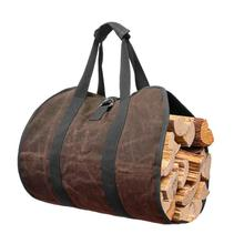 Outdoor Wood carrier Tent Accessories outdoor firewood storage bag firewood transport bag canvas tote bag Firewood storage