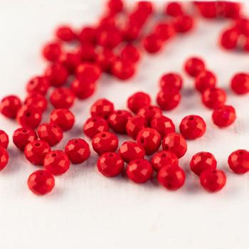 MH koraliki z czeskiego szkła chiny czerwone szkło koraliki 6*8mm cut jednolity kolor koraliki ze szkła kryształowego luźne koraliki do biżuterii DIY produkcji tanie i dobre opinie NONE Moda Round Shape Glass