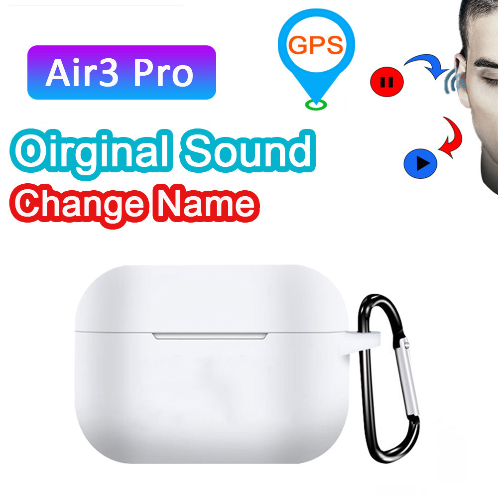 New air 3 pro TWS 1:1 Aire 3 Super Copy Wireless Earphones <font><b>Gps</b></font> Rename 8D Bass Stereo Pk Bluetooth Earphone I100000 <font><b>I200000</b></font> Tws image