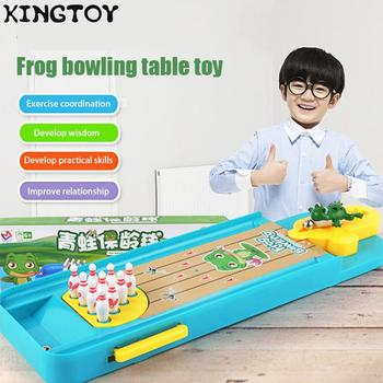 Mini kid Desktop Bowling Game Toys For Children Baby family Table Sports Toy Game Kids Boy and Girl Gifts Mini Funny Board Games funny frog eating beans board games toys for children interactive desk table game family game educational toys kid gifts