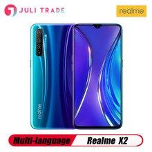 الأصلي ممن لهم Realme X2 الهاتف المحمول سناب دراجون 730G 6.4 بوصة سوبر AMOLED شاشة أندرويد 9.0 8GB 128GB 64.0MP 30W شاحن NFC