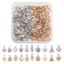 20pcs~80pcs Mixed Shapes Alloy Charms Pendants for bracelets necklace DIY  jewelry making Accessories Decor Mix Color