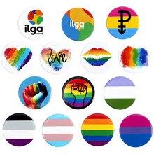 Stolz Regenbogen Fahnen Homosexuell Emaille Pin Abzeichen Nette Herz Homosexuell Lesben Bisexuell Transgender Symbol Brosche Schmuck Geschenk für Freunde