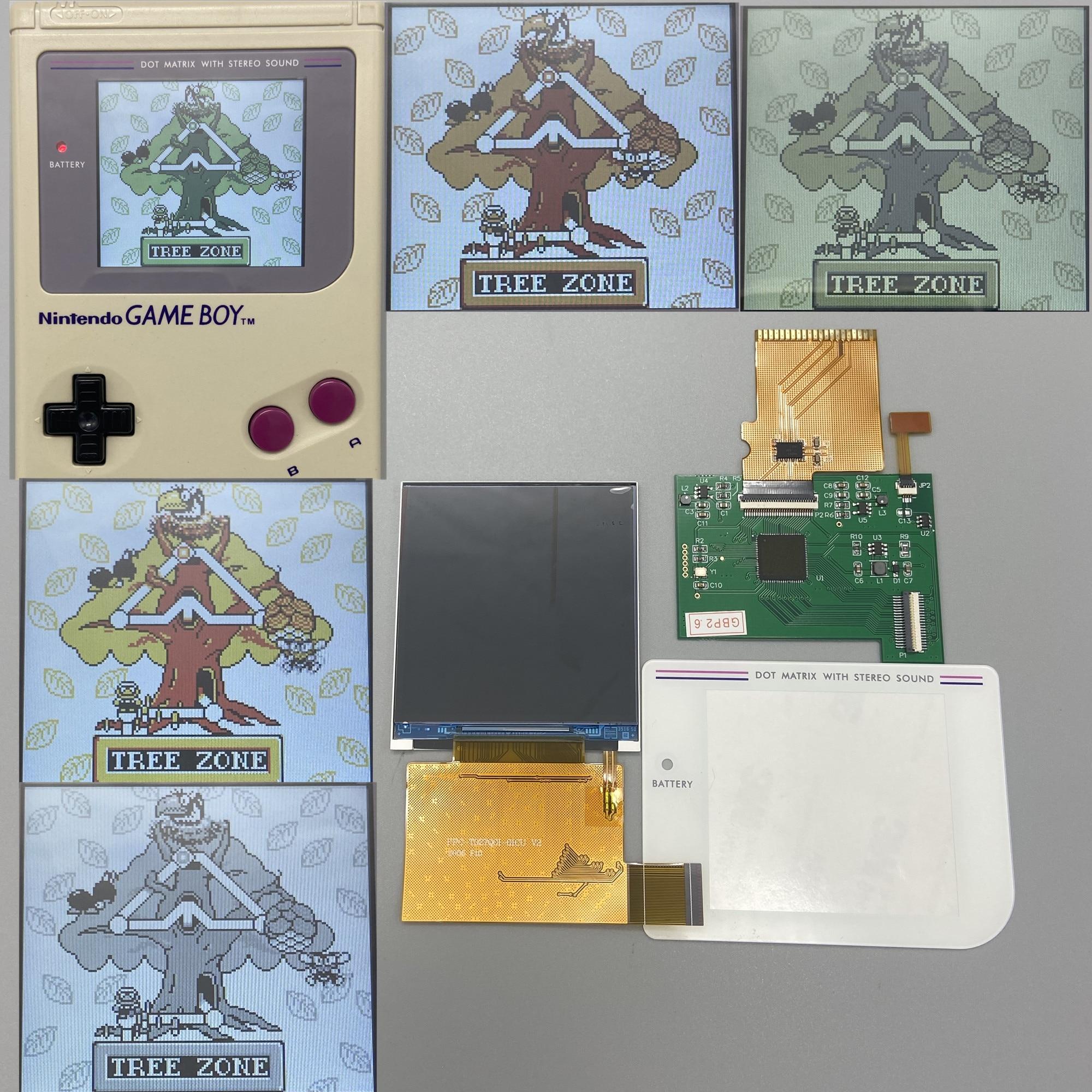 La pantalla LCD IPS de 2,6 pulgadas de alto brillo es adecuada para Nintendo Gameboy GB DMG