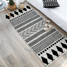 Moroccan Area Rugs for Bedroom Bedside Nordic Print Soft Flannel Floor Mat Washable Non-Slip Kitchen Door Mat Home Decor Carpets