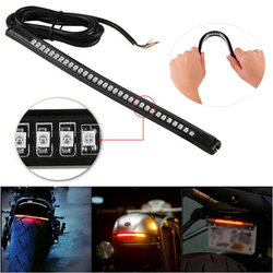 Universal 36 LED Motorcycle car Tail Lamp Rear Brake Stop Turn Signal License Plate Light Flexible Moto Strip Lights Accessories