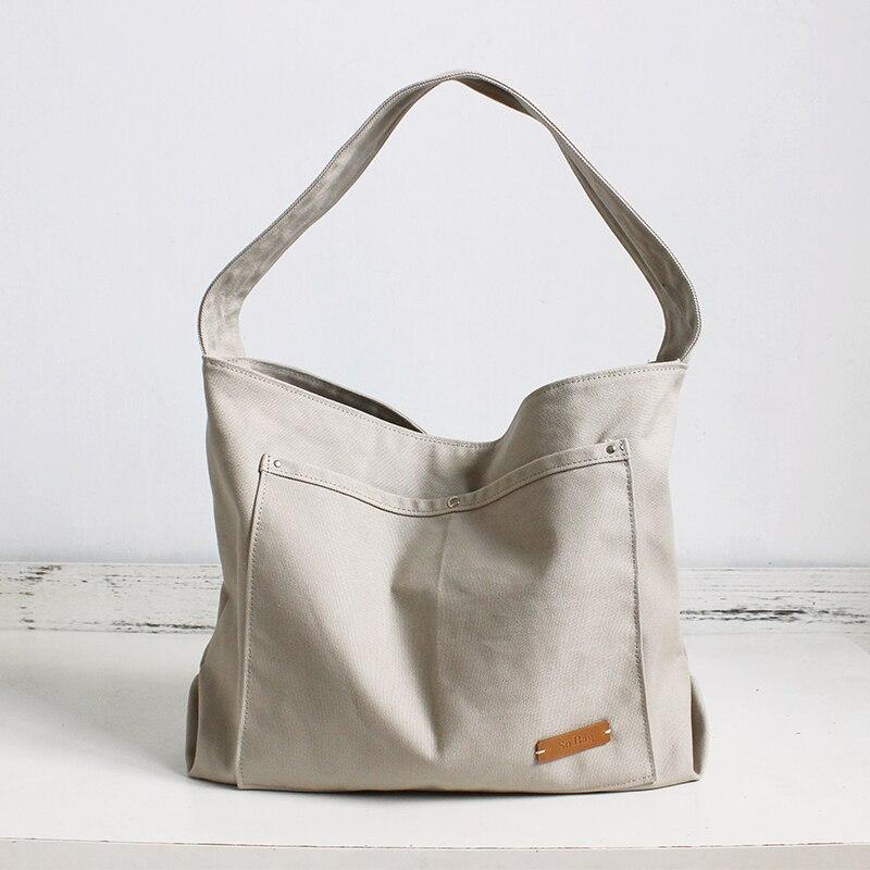 Bag Totes Leather Canvas Tote Handbag