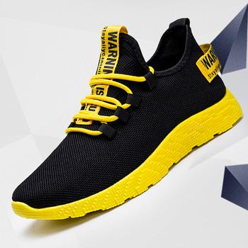 Mężczyźni Vulcanize buty trampki oddychające męskie obuwie antypoślizgowe nowe męskie siatka powietrzna zasznurować mężczyźni buty Tenis Masculino hurtownie tanie i dobre opinie BZBFSKY Mesh (air mesh) RUBBER Men Shoes Cotton Fabric Płytkie Wiosna jesień Gumką Mieszkanie (≤1cm) Pasuje prawda na wymiar weź swój normalny rozmiar