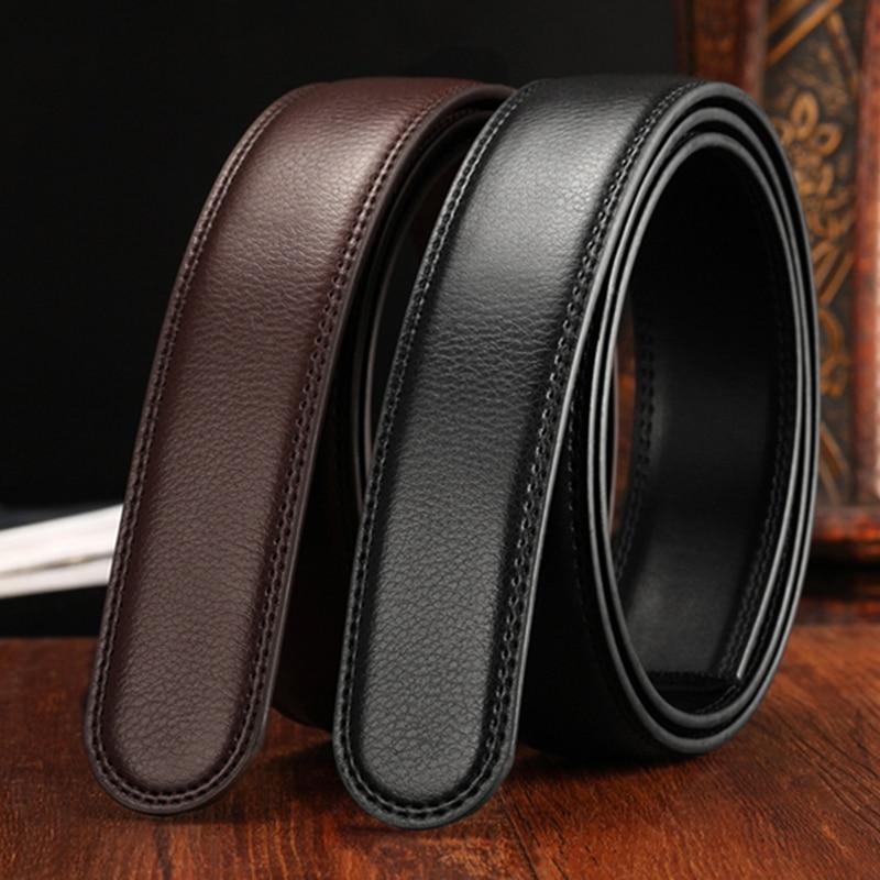 150cm Genuine Leather Men's Belt Strips Without Buckle Width 3.5cm Belt Suitable For Automatic Buckle Fashion Business Belt 2020