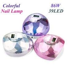 86W UV lámpara LED para secado de manicura uñas profesional máquina lámpara de uñas de Gel lámpara de curado para secado de esmalte de uñas con pantalla LCD