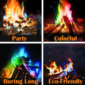Magic Tricks Fireplace Flames-Powder Campfire Pyrotechnics-Toys Coloured Party for 600g