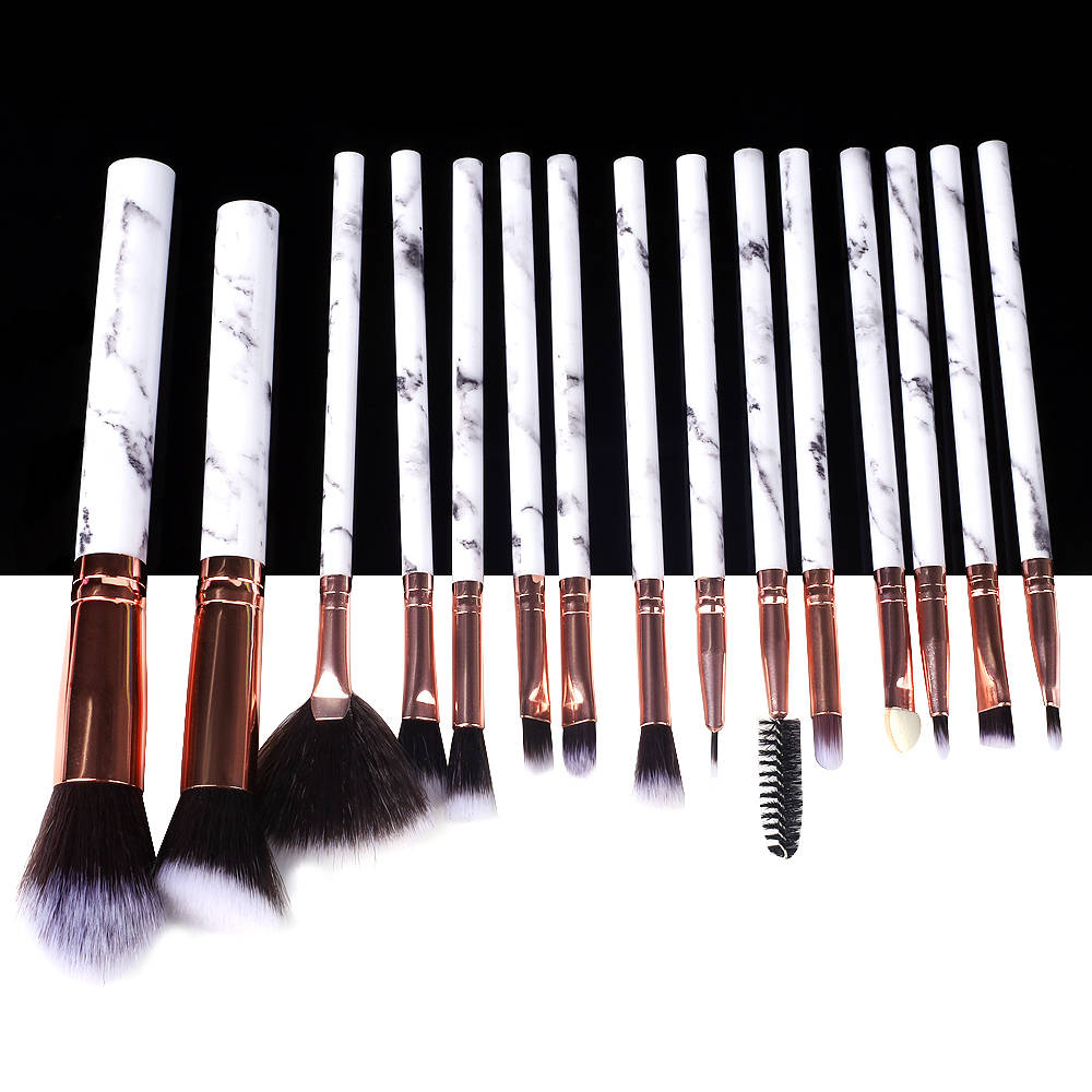 Marble Makeup Brushes Tool Make Up Brush Set Kit Professional Powder Small Natural High Quality Highlighter Lip Eyeshadow