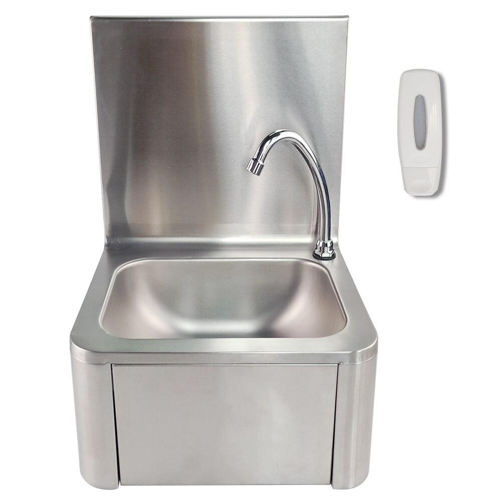 Lavabo simple d'utilisation de cuisine d'évier de genou de lavage de main de style moderne avec le robinet