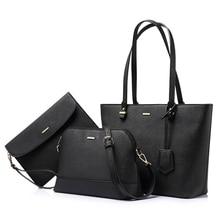 LOVEVOOKกระเป๋าถือผู้หญิงไหล่กระเป๋าCrossbodyกระเป๋าขนาดใหญ่Toteกระเป๋าชุด 3 pcsหรูหรากระเป๋าและคลัทช์กระเป๋าสำหรับผู้หญิง 2020