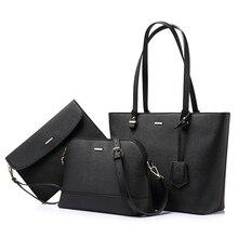 LOVEVOOK bolsa feminina de marca famosa bolsa feminina de couro grande escolar saco conjunto bolsa feminina 3 composite mulheres grande capacidade sacola saco crossbody pequena de ombro da forma