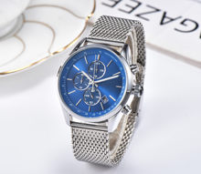2019 Fashion Luxury men Watches Quartz Watch Stainless Steel Dial Casual Bracele Watch 007(China)