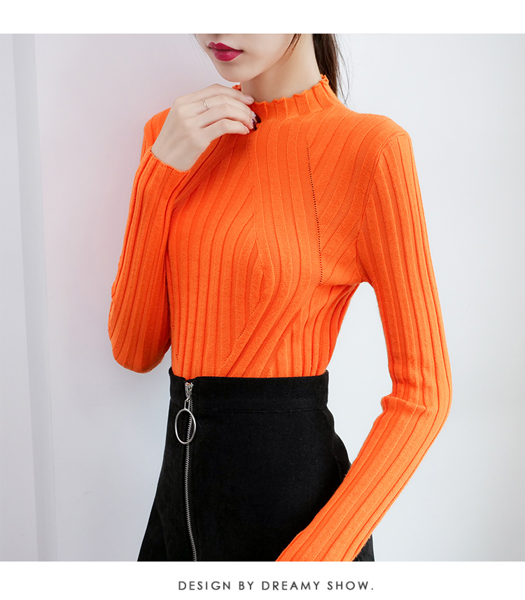 Sweaters fashion 19 women sweaters ladies winter clothes women knit solid black long sleeve tops sueter mujer Pullovers 0364 23