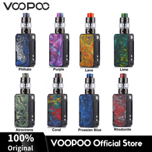 Original 117W VOOPOO Drag Mini TC Kit 4400mAh Battery Mod Box Vape 5ml Uforce T2 Tank Coils E Cigarette Vaporizer MOD
