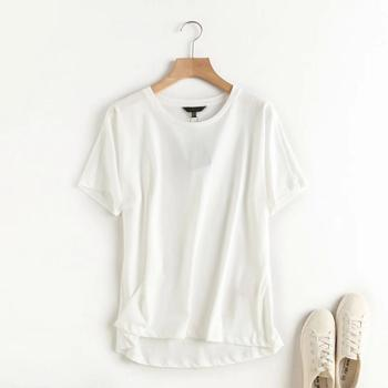 Withered Summer T shirt Women England Style Simple Solid O-Neck Cotton Match Basic Harajuku Tshirt 8