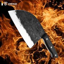 DEKO-cuchillo de Chef forjado a mano, cortador de hueso de alto carbono, cuchillo tradicional de carnicero, utensilios de cocina