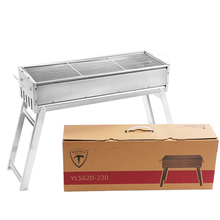 Durable camping portable  stainless steel bbq grill charcoal barbecue