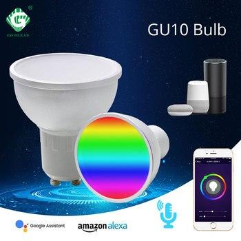 go google GO OCEAN WiFi Smart Bulb GU10 3W 5W RGB LED Lamp Support Amazon Alexa Google Home Remote Voice Control 8 Modes Dimmable Light