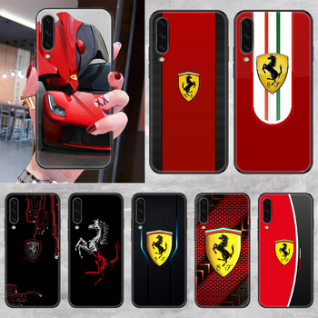 Ferrares Car Sport Phone case For Samsung Galaxy A 3 5 7 8 10 20 21 30 40 50 51 70 71 E S 2016 2018 4G black art bumper painting image