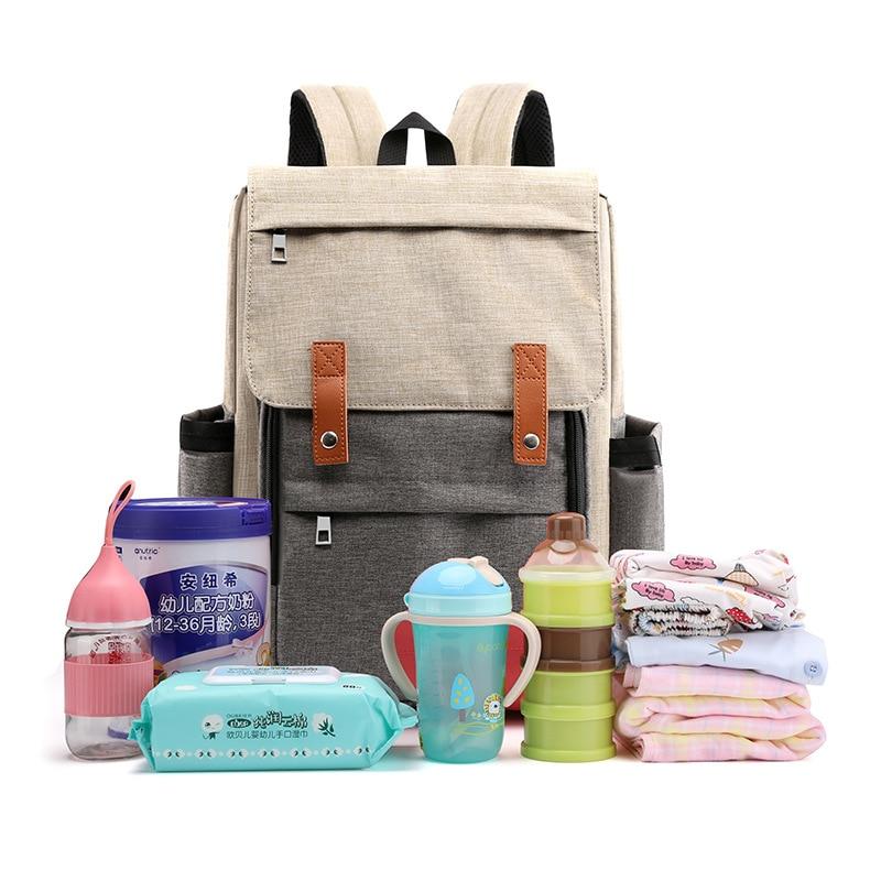 Diaper Bag New Style Backpack Women's Large Capacity Travel Anti-Spillage Mom Backpack Nursing Mom And Baby Handbag