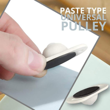 4/8pcs Paste Type Universal Pulley 360° Rotation for Bottom Storage Box Rack Trash Can Bed Storage Box Hooks Universal Wheel
