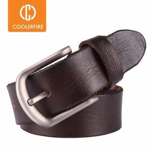 Image 1 - 2017 New men belt top full grain 100% real genuine cowskin leather soft jeans belt TM050