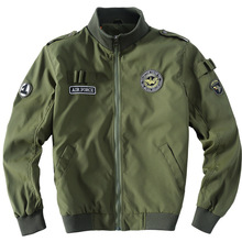 Thoshine Brand Spring Autumn Style Men Pilot Bomber Jackets Print Male Fashion Outerwear Jacket Patch Epaulet Casual Tops
