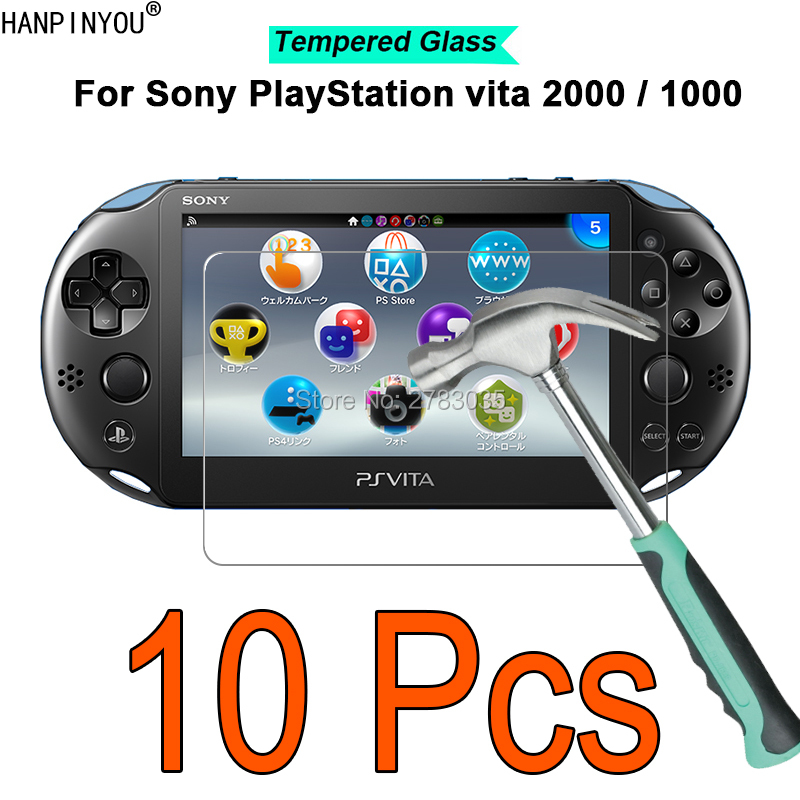 10 Pcs/Lot For Sony PlayStation Psvita <font><b>PS</b></font> <font><b>Vita</b></font> PSV <font><b>2000</b></font> 1000 PSV2000 PSV1000 9H 2.5D Tempered Glass Film <font><b>Screen</b></font> Protector image