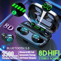 S11 3500mAh Power Bank Kopfhörer Bluetooth Wireless Sport In Ohr TWS Gaming Headset Noise Earbuds mit Mic für IPhone xiaomi