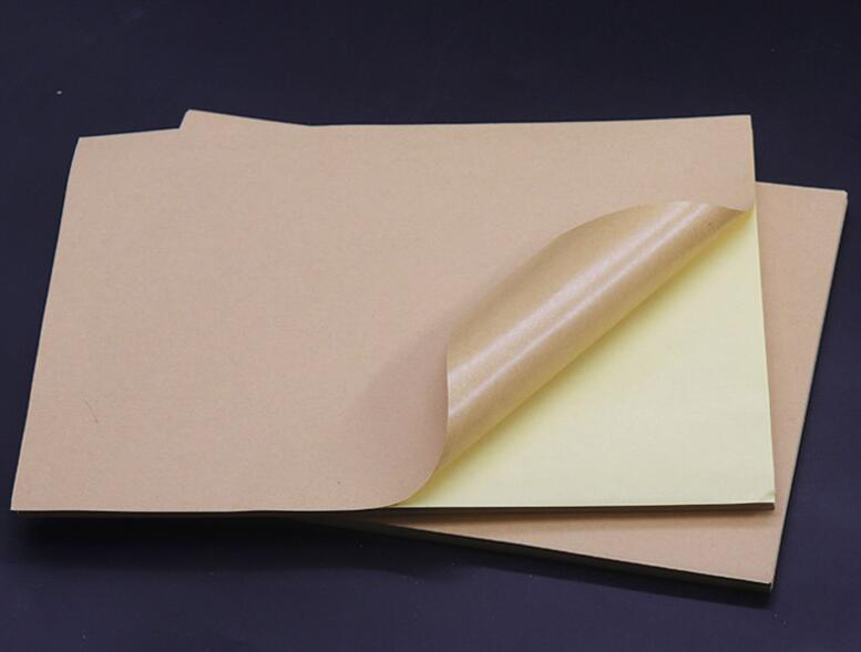 Size A4 Printable Matte Brown Kraft Self Adhesive Paper Sticky Back Shipping Label Sticker 2/10/30/50/100 You Choose Quantity