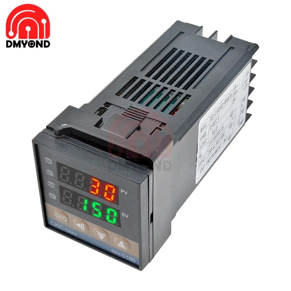 Новый REX C100 Цифровой температурный Термостат Термометр SSR релейный выход светодиодный цифровой PID температурный контроллер терморегулятор 0 1300C|Приборы для измерения температуры|   | АлиЭкспресс