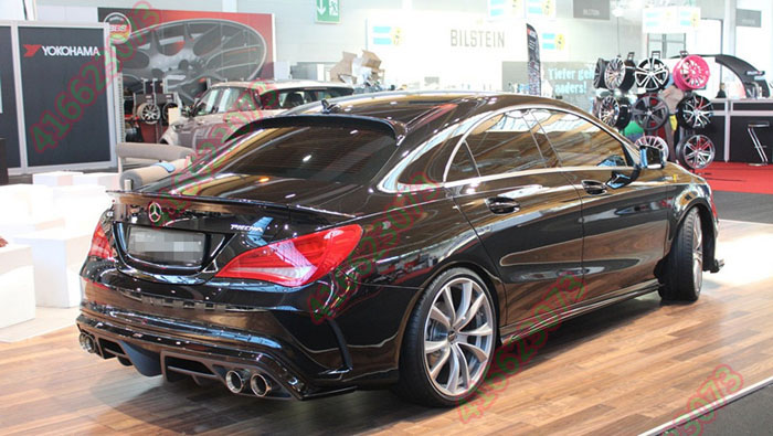 Fit for Mercedes-Benz CLA W117 <font><b>CLA250</b></font> CLA45 Piecha carbon fiber rear <font><b>spoiler</b></font> rear wing image