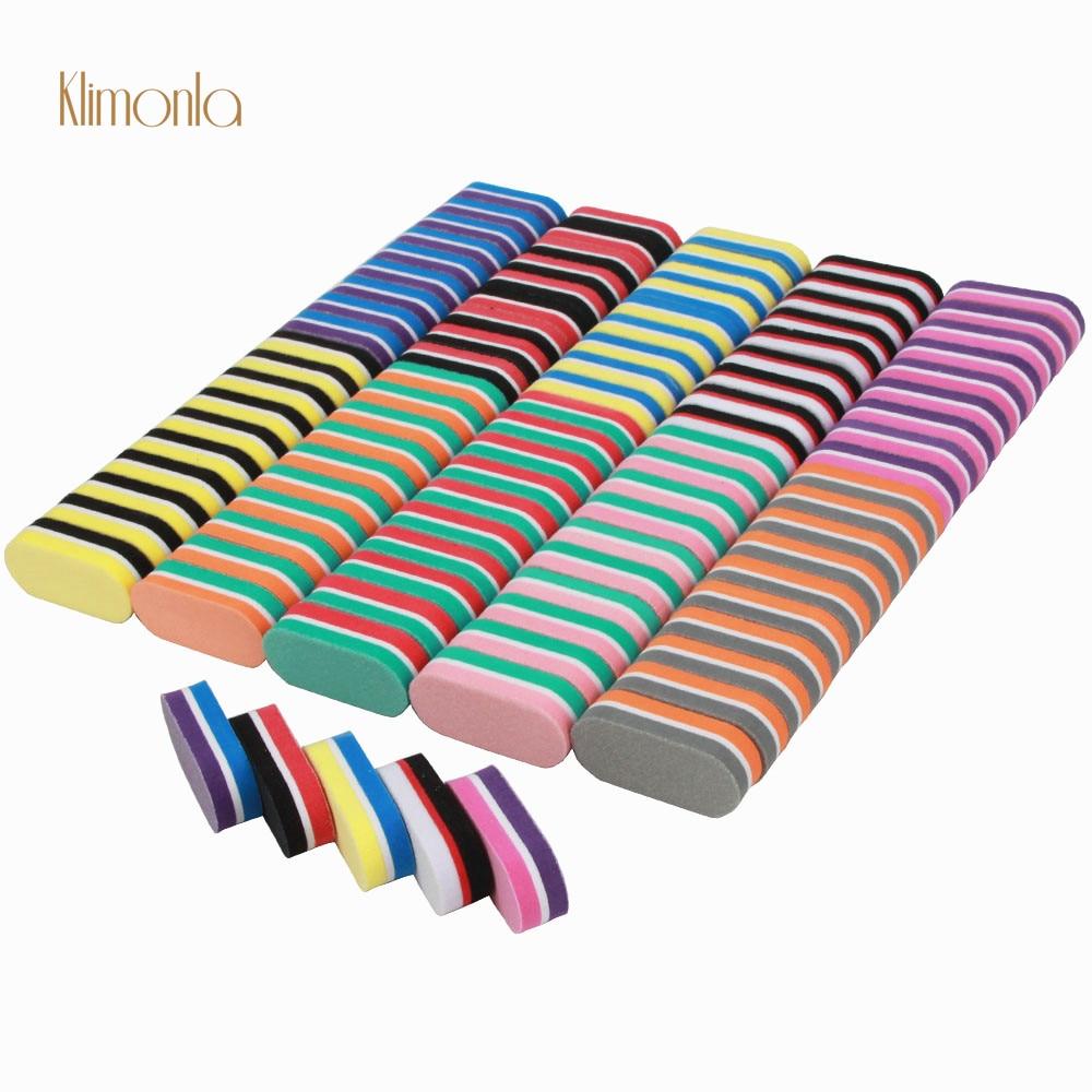 100 unidades pacote mini esponja da arte do prego blocos de polimento lixa lixa unhas manicure
