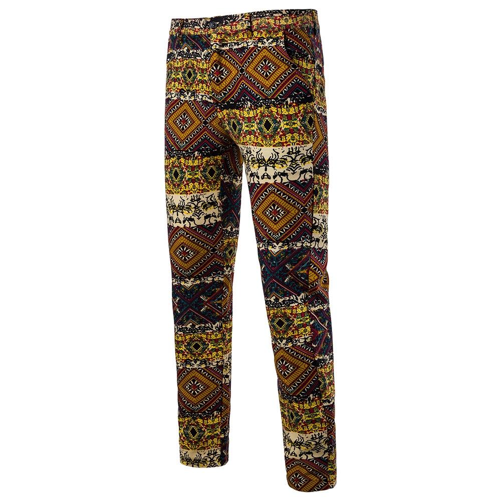 Мужская Мода Национальный Ветер Повседневное модные Для мужчин Блейзер Для мужчин s Брюки - Цвет: 01