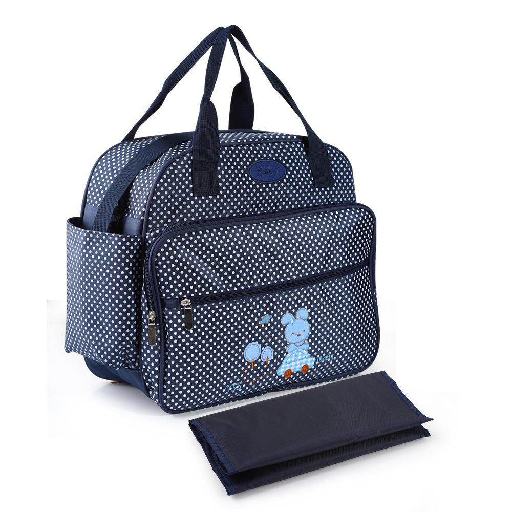 Wholesale New Designer Fashion Mummy Baby Diaper Bag Hot Sale Dot Diaper Changing Bags