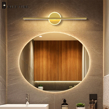 Ванная комната переднего зеркала свет современный светодиодный настенный светильник 80 60 40см металл бра прикроватные коридор золото белый