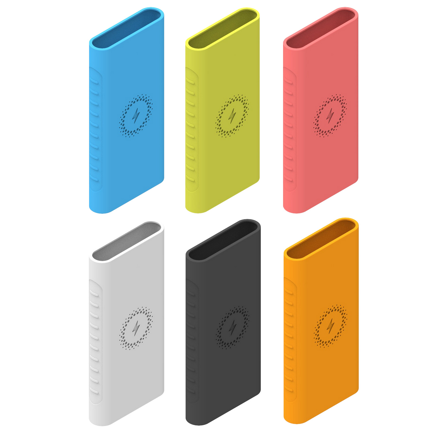 Fashion Non-slip Soft Silicone Protective Case Cover Shell for <font><b>Xiaomi</b></font> <font><b>Mi</b></font> PLM11ZM <font><b>Wireless</b></font> <font><b>Power</b></font> <font><b>Bank</b></font> <font><b>10000mAh</b></font> image