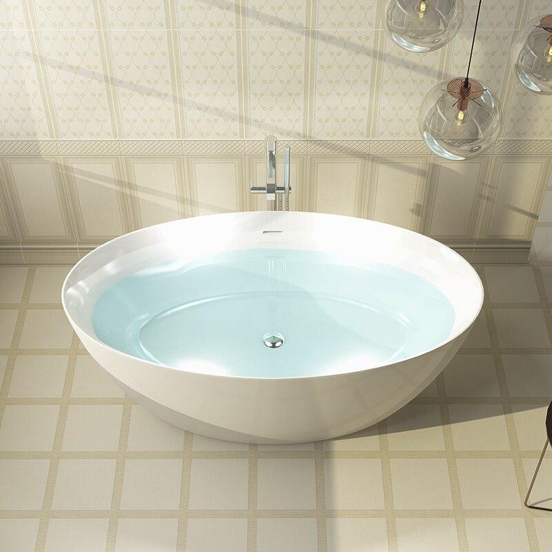 Banheira acrílica de aojin, banheira profunda da borda fina do casal da banheira do estilo europeu independente 1500mm-3