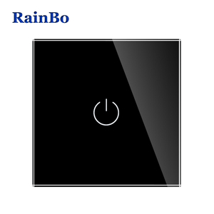 Image 4 - BainBo Crystal Glass Panel smart Switch EU Wall Switch AC250V LED  Touch Switch Screen Wall Light Switch 1gang 1way A1911CW/B