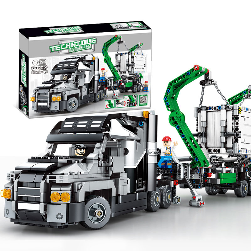 Technic Series Container Truck Vehicles Car Compatible with truck 42078 The Mack Big Truck Set Building