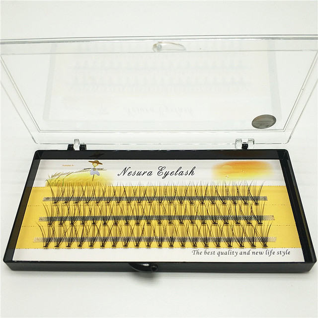 1 piece 60 cluster eyelash extension 10D individual eyelashes, handmade professional graft eyelashes free shipping 2