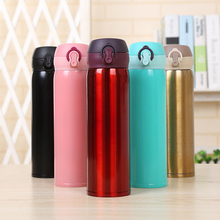 Stainless steel bouncing cup 500ml vacuum flask student outdoor portable gift thermos bottle