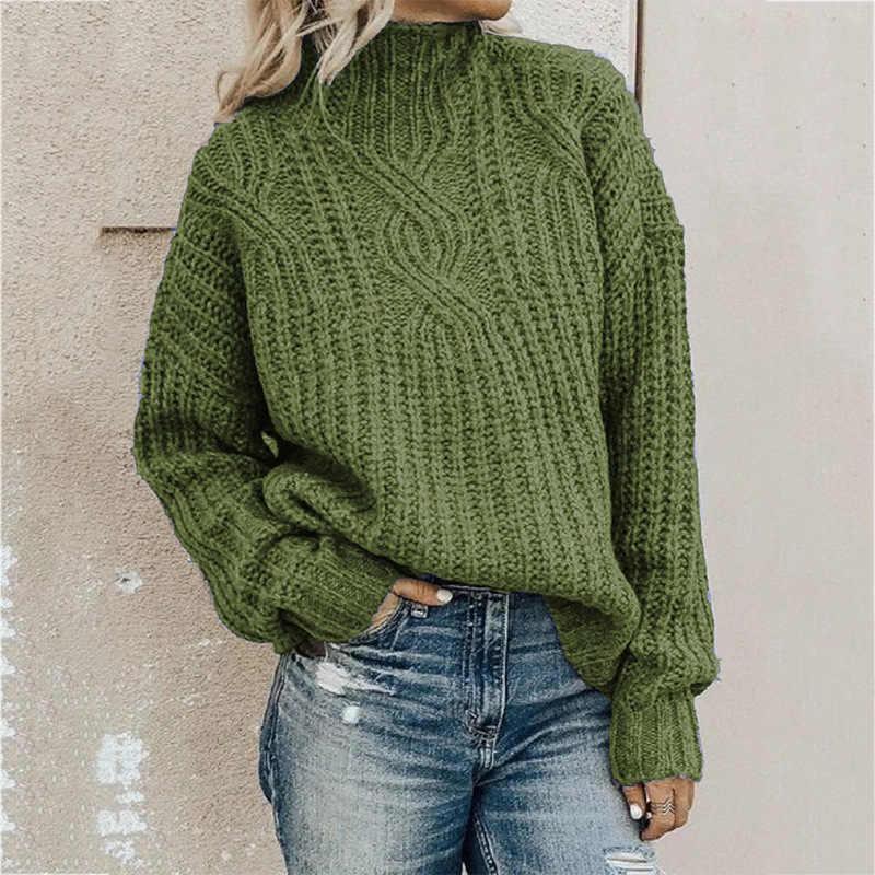 스웨터 여성용 터틀넥 트위스트 니트 탑 풀오버 여성 스웨터 겨울 의류 여성 겨울 의류 풀오버 여성